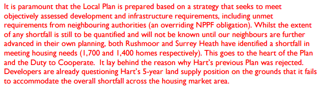 Hart District acts as sink for 3,100 houses from Surrey Heath and Rushmoor