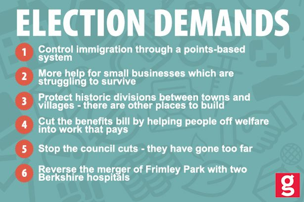 Election demands from Hampshire residents