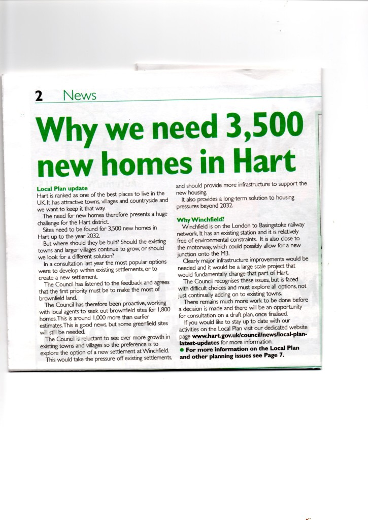 Why we need 3,500 new homes in Hart