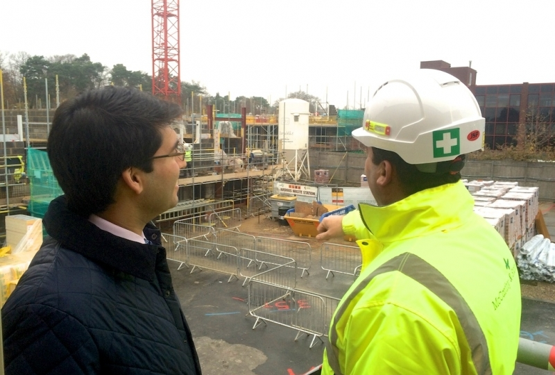 Ranil Jayawardena at a brownfield site