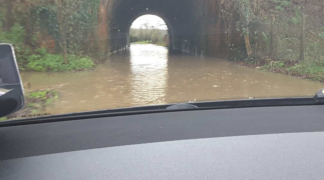 Flood Taplins Farm Road Winchfield 3 January 2016