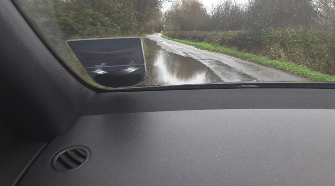 Flood Pale Lane Winchfield 3 January 2016