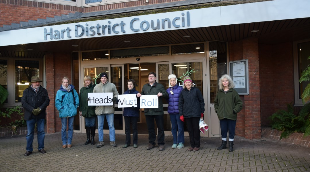 Protest at Hart Council's Offices about the consultation shambles