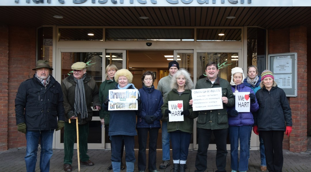 Protest at Hart Council's Offices about the Consultation farce