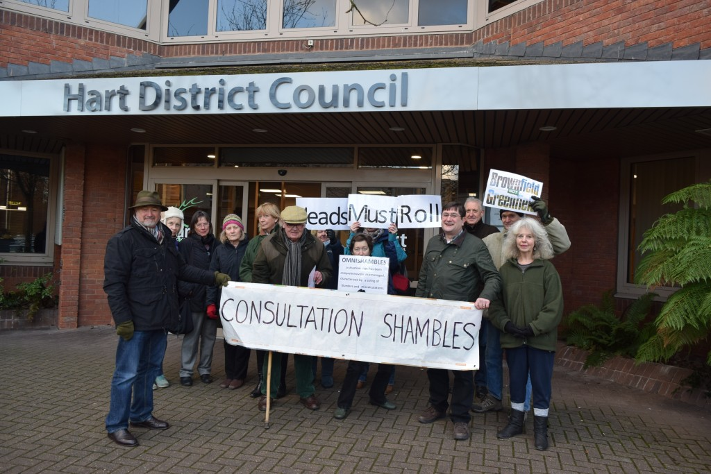 Protest at Hart's Offices about the Consultation farce