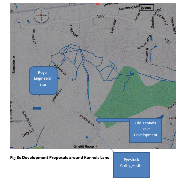 Development proposals around Kennels Lane