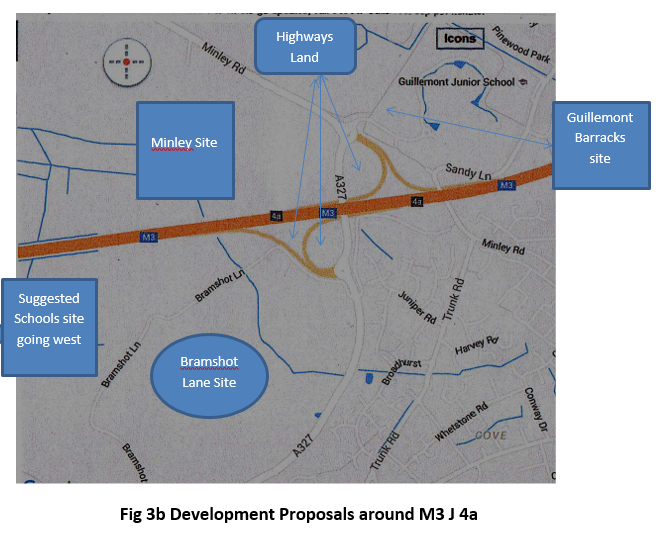 Development proposals around M3 J4a and Bramshott Farm