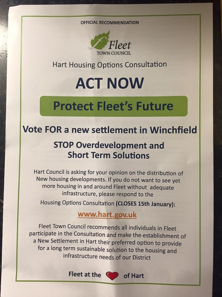 Fleet Town Council Leaflet