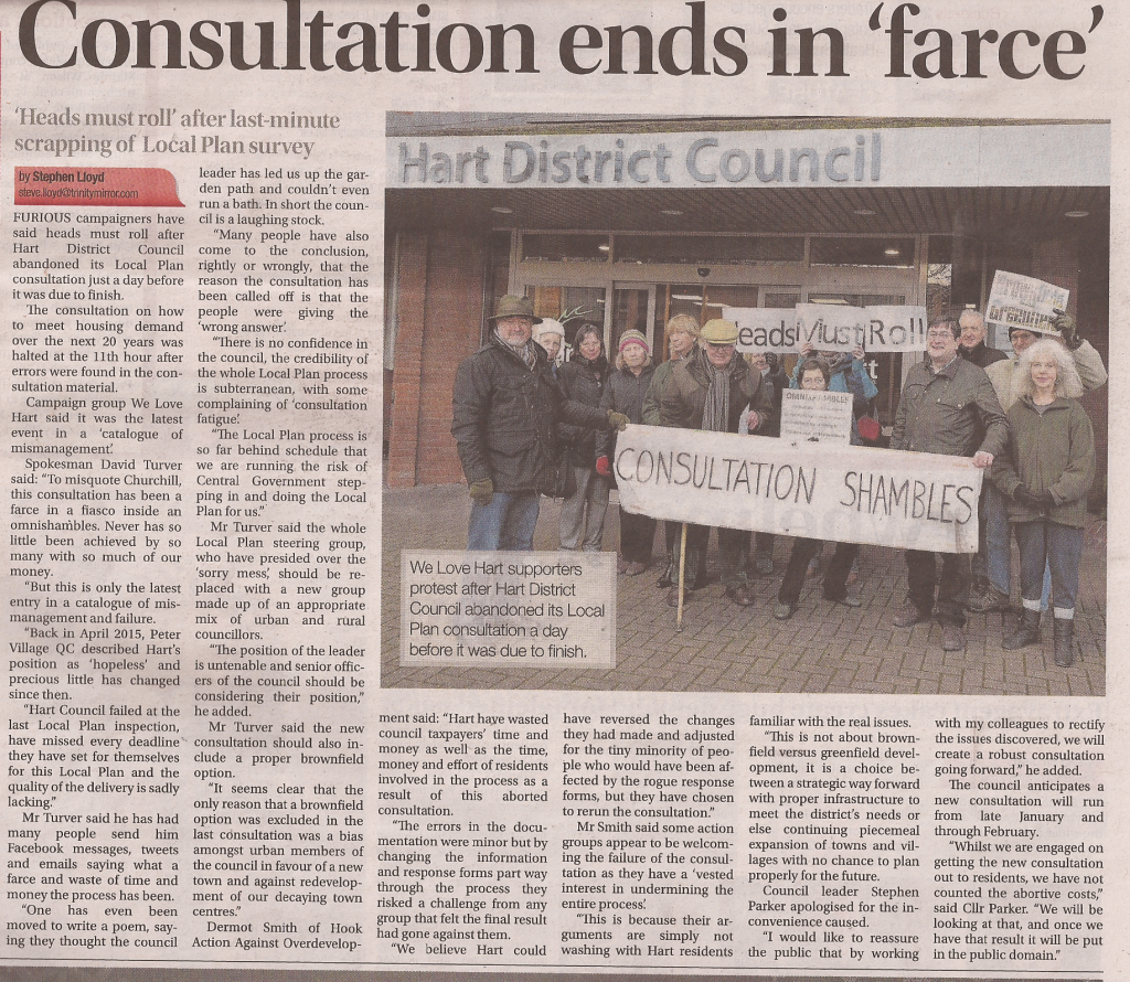 Hart Consultation ends in farce Fleet News and Mail 20 Jan 2016