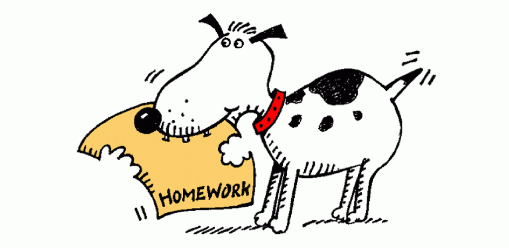 The dog ate Hart's homework