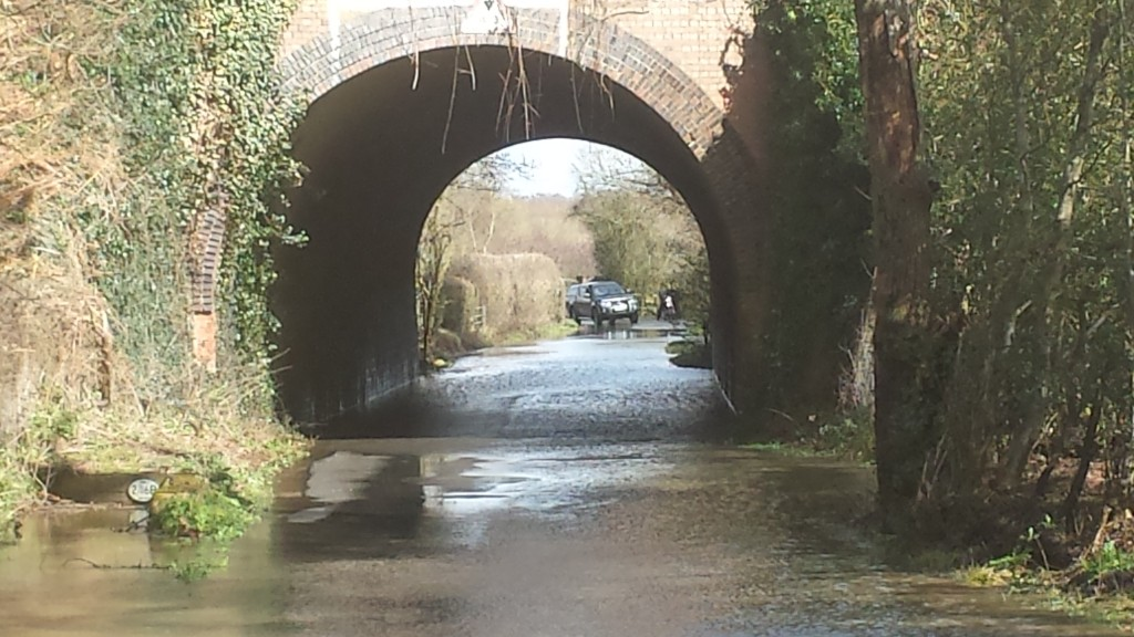Flood Taplins Farm Lane Winchfield 28 March 2016 #StormKatie Storm Katie.