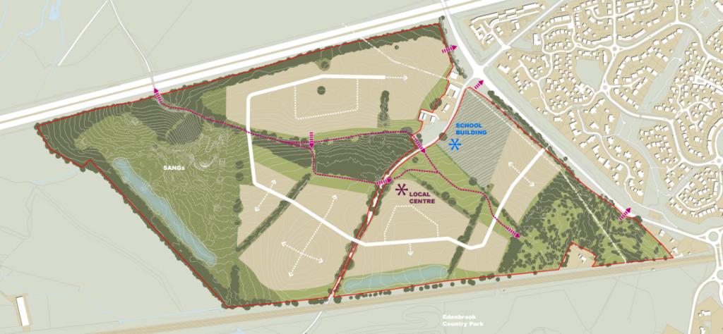Hart Major Planning Site: Wates Homes Elvetham Chase (Pale Lane) Development Proposal, near Elvetham Heath and Hartley Wintney, Hart District, Hampshire.