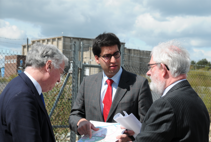 Ranil Jayawardena Stephen Parker and Michael Fallon at Pyestock (Hartland Park)