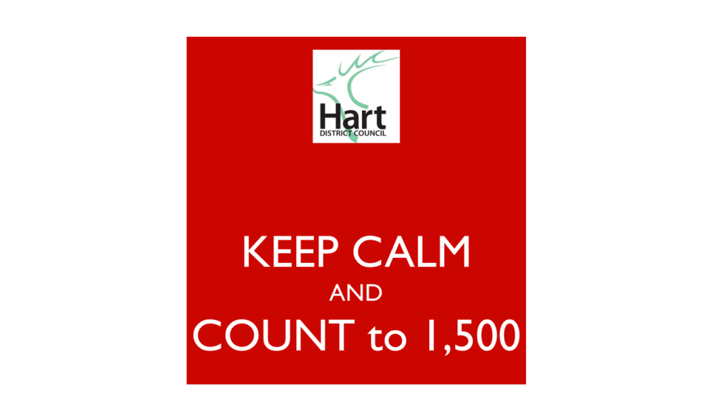 Keep Calm and Count to 1,500