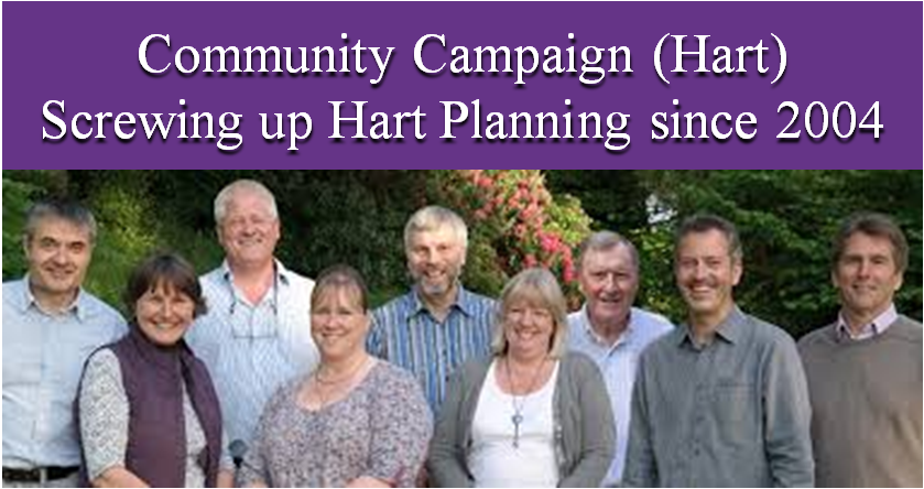 Community Campaign Hart incompetence on Hart Planning since 2004