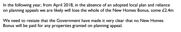 Joint CEO statement on the impact of delays local plan on New Homes Bonus