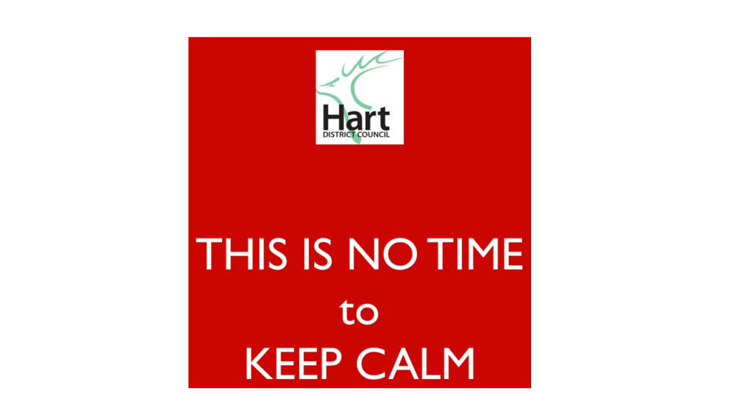 CCH force delay to Hart Local Plan- this is no time to keep calm