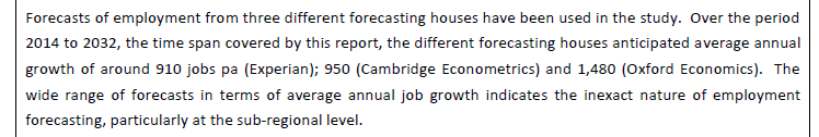 Hart Surrey Heath and Rushmoor (HRSH) Strategic Housing Market Assessment. SHMA Section 5 summary range of forecasts