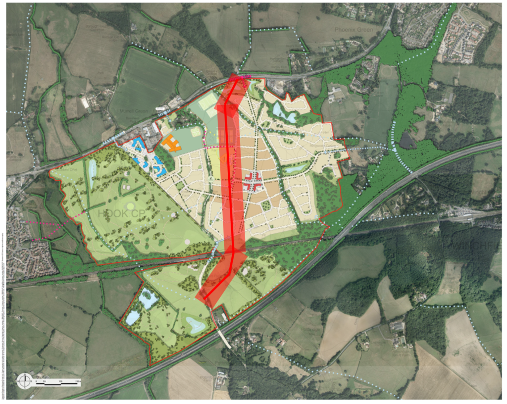 Murrell Green near Hook and Hartley Wintney Framework Plan.