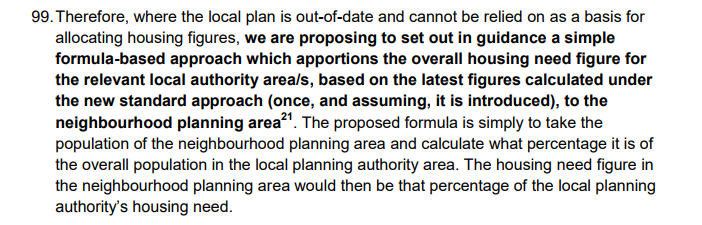 New Government housing methodology - Neighbourhood plans
