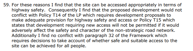 Grove Farm (Netherhouse Copse) Highway Safety decision