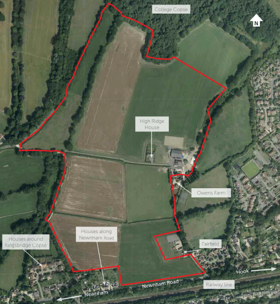 Hart Major Planning Site: Planning application submitted for 700 houses at Owens Farm west Hook 17/02317/OUT