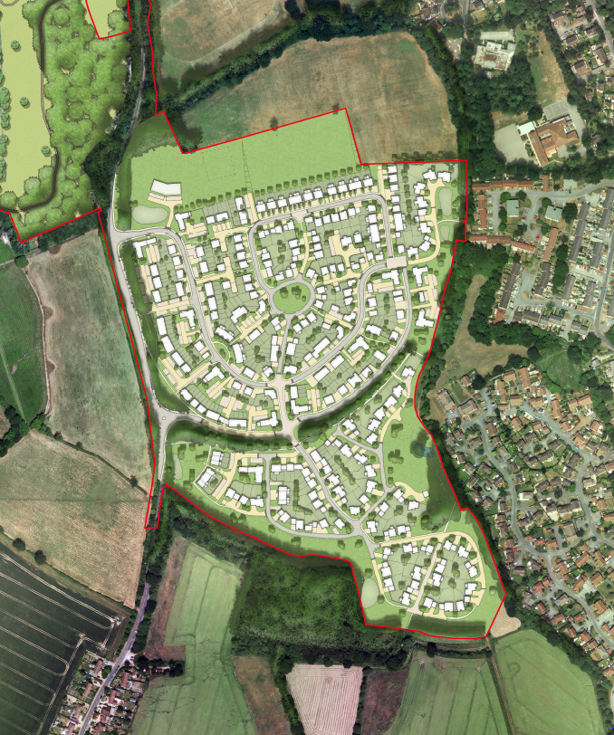 Grove Farm Appeal - Netherhouse Copse Site Layout