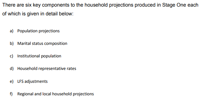 Methodology for calculating DCLG household projections