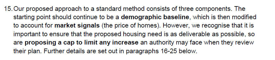 Para 15 of Planning for the right homes in the right places - baseline plus maket signals