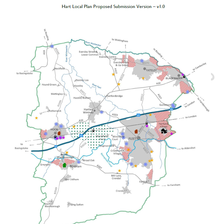 Hart Local Plan Regulation 19: Hartley Winchook leads to no strategic gaps around Hartley Wintney nor to the east of Hook