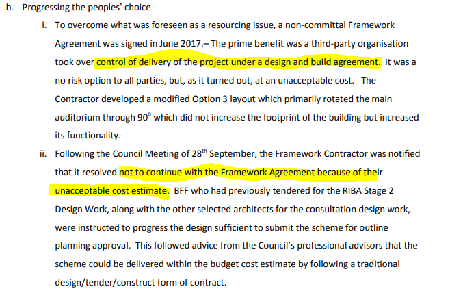 The Harlington Project Financial challenges to build on Gurkha Square risk of cost increases