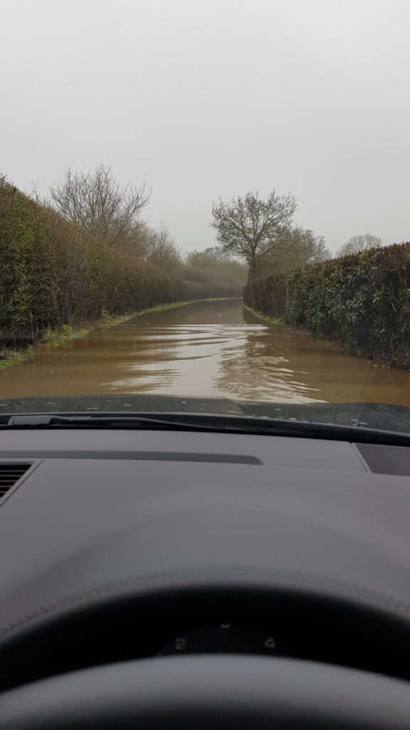 Winchfield Floods Taplins Farm Lane 20180411