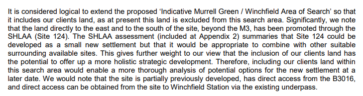 Lady Henrietta Wigram begs for more land to be included in Winchfield new town area of search