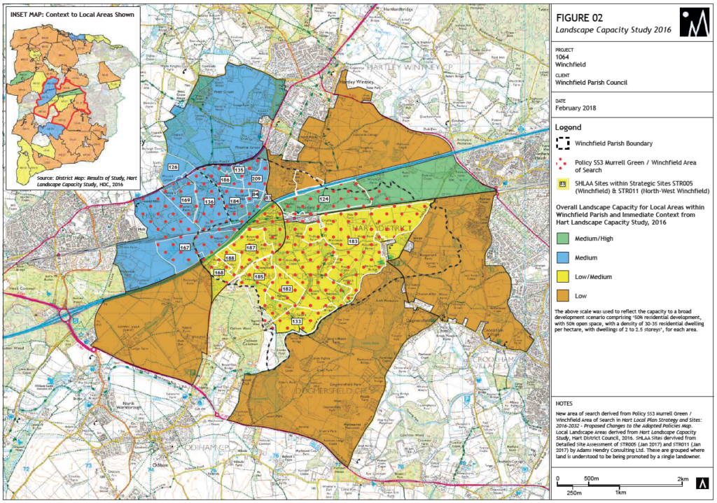 Figure 2 Winchfield New Town Landscape Capacity Study