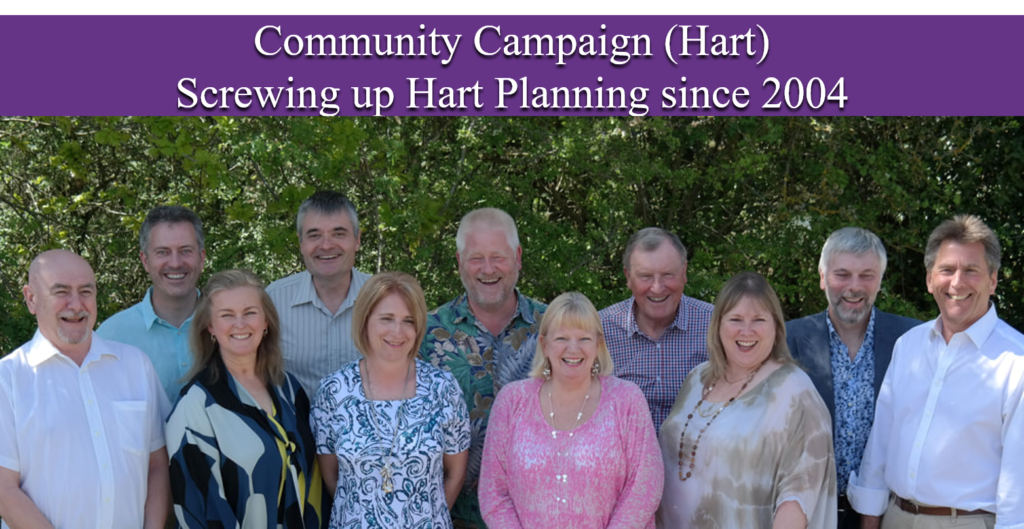 Community Campaign Completely Concrete Hart screwing up Hart Planning since 2004