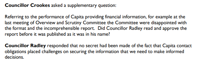 Councillor Radley quizzed on his role in the Hart finance shambles