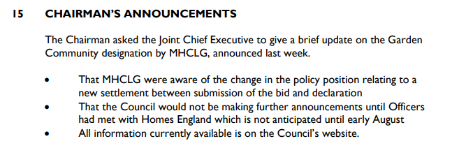 Winchfield fights back: Chairman Announcement MHCLG kept informed