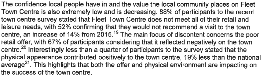Future High Streets Bid - Poor retail offer and physical appearance
