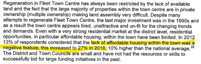 Future High Streets Bid - lack of affordable housing