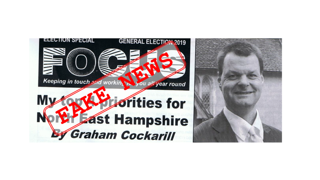 #LibDem #FakeNews Leaflet North East Hampshire #GE2019