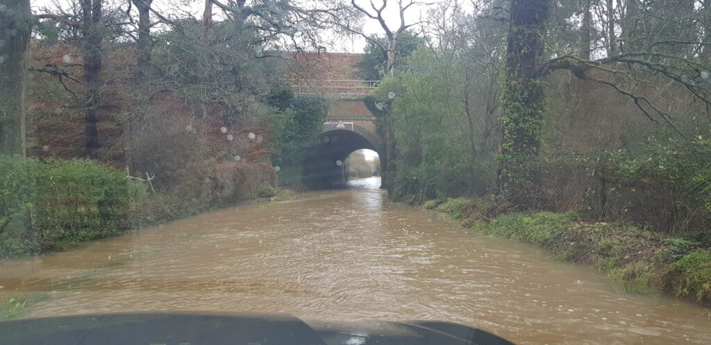 Taplins Farm Lane Flood. #StormDennis.