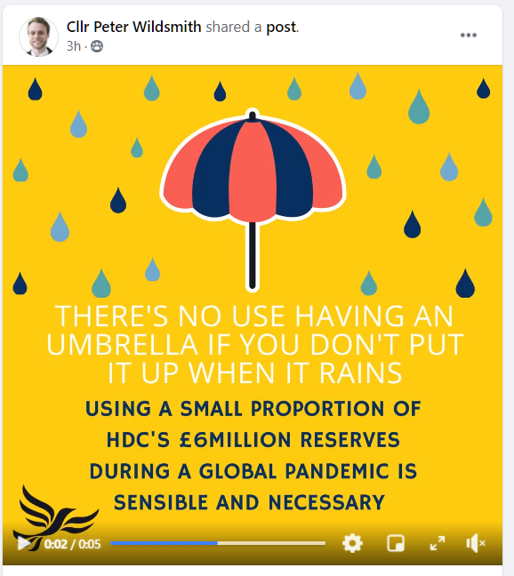 Hart's Mad Budget: Lib Dems Using Reserves