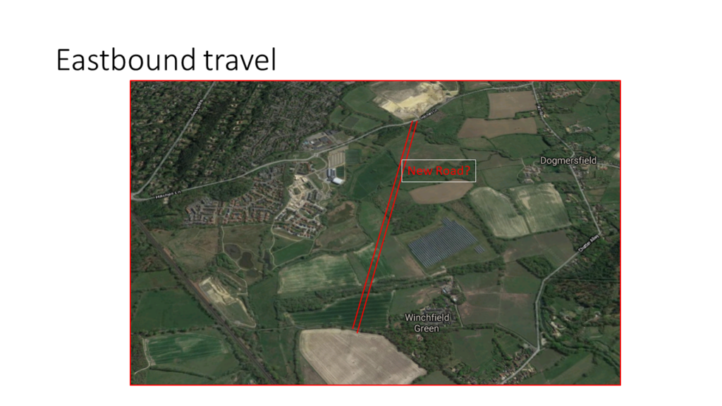 Shapley Heath Major Road Transport Issues: Eastbound travel perhaps requires new road