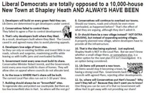 Two-Faced Liberal Democrats: Leaflet opposing Shapley Heath