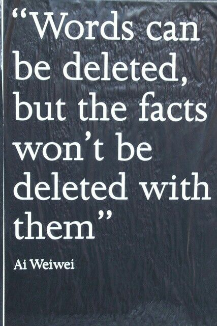 Words can be deleted but the facts cannot be deleted with them